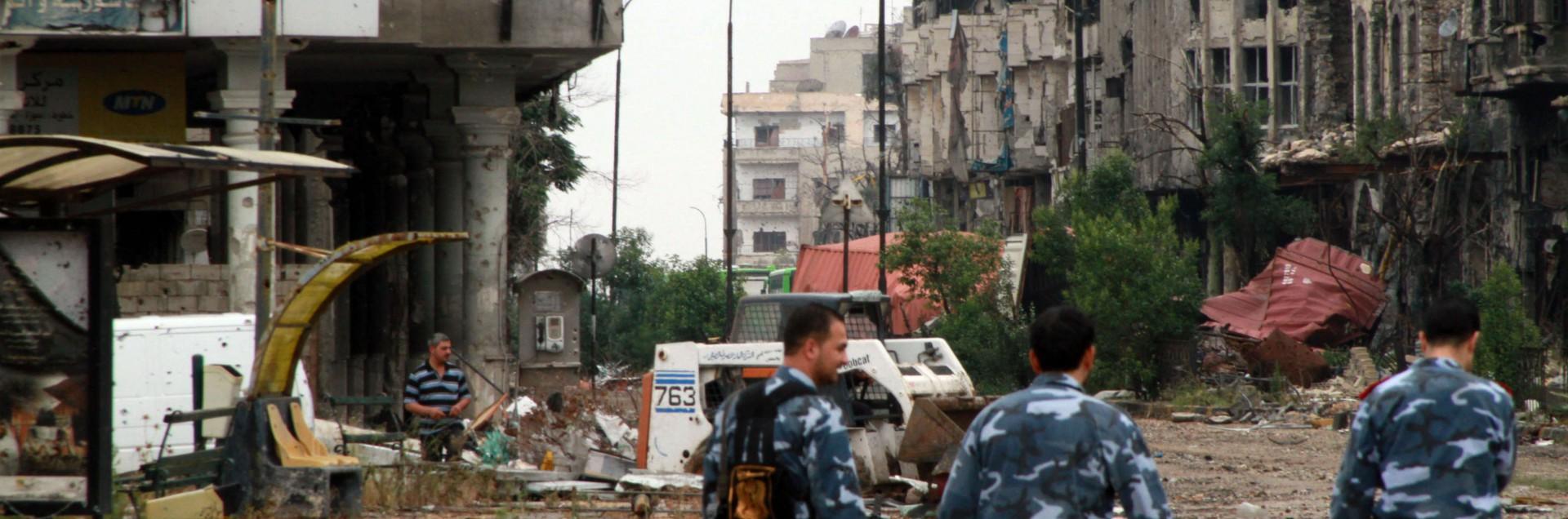 Homs, da città della rivoluzione <br>a cumulo di macerie (umane)
