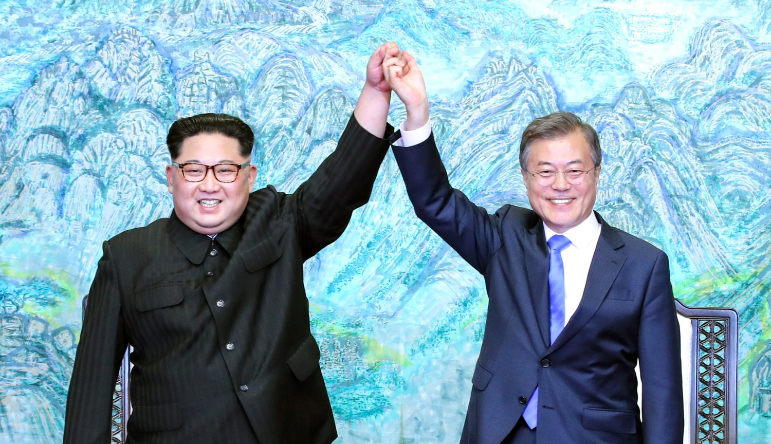 Kim Jong-un e Moon Jae-in (Getty)