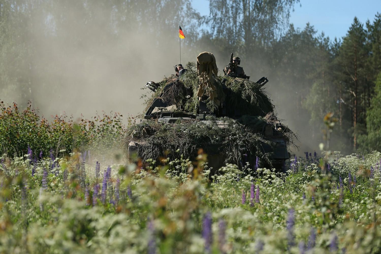 Un carro armato della Nato in Lituania per le esercitazioni annuali