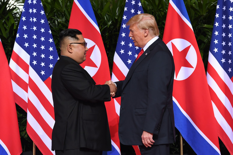 Trump e Kim Jong-un a Singapore (LaPresse)