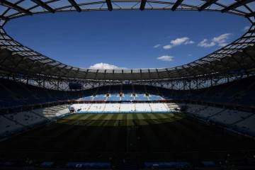 The interior of the stadium is seen ahead of the Russia 2018 World Cup Group H football match between Japan and Poland at the Volgograd Arena in Volgograd on June 28, 2018. / AFP PHOTO / NICOLAS ASFOURI / RESTRICTED TO EDITORIAL USE - NO MOBILE PUSH ALERTS/DOWNLOADS