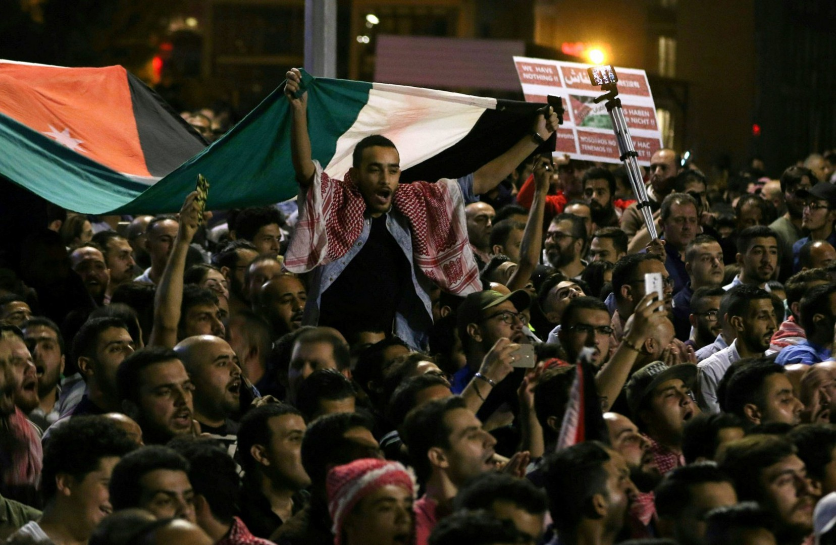 Proteste in Giordania (LaPresse)