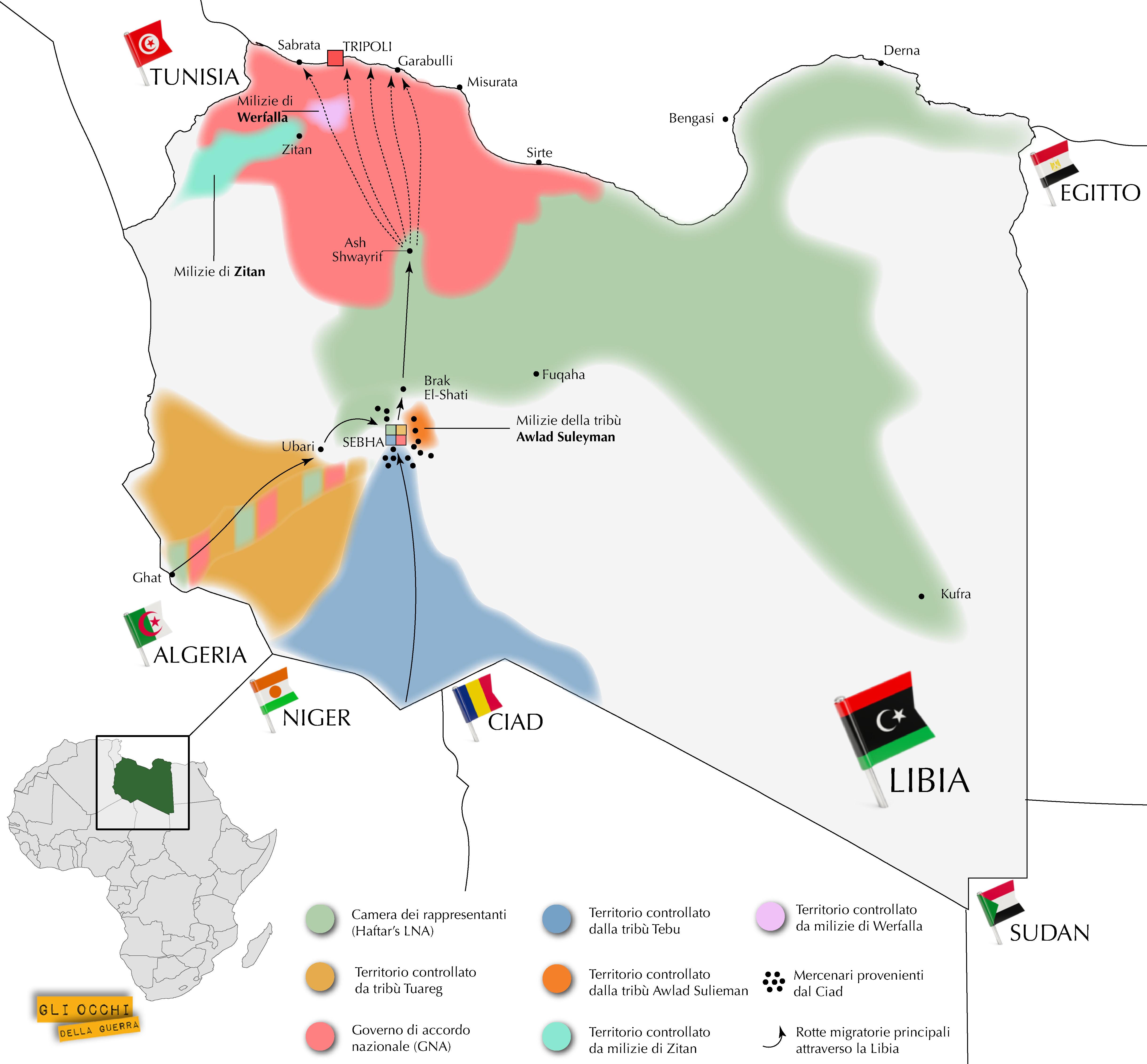 mappa libica 8 giugno 2018