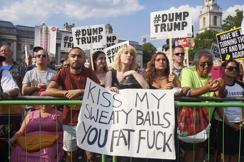 proteste trump londra