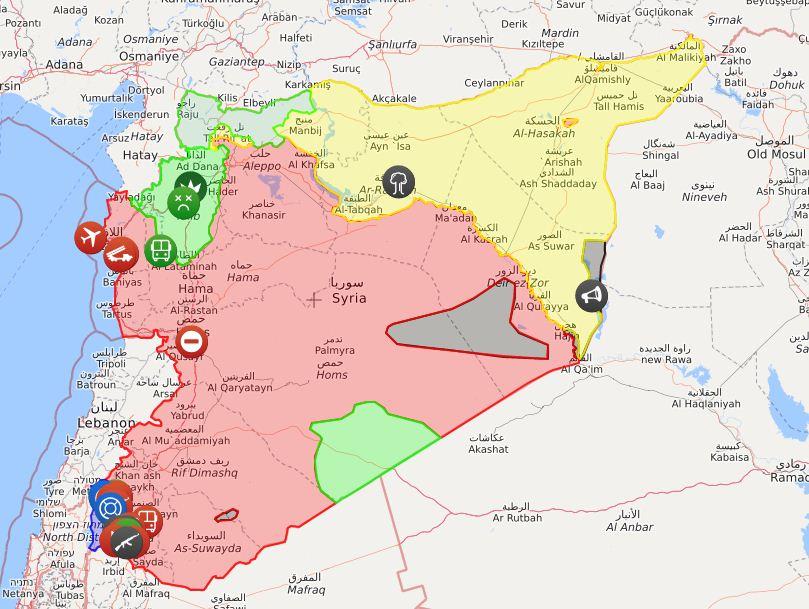 I territori controllati da Assad (Liveuamap)