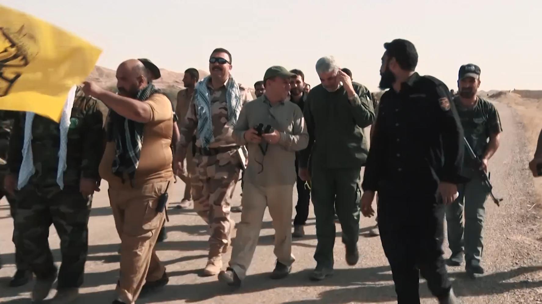 Il generale Qasem Soleimani in prima linea nella battaglia di Hawija in Iraq (Wikipedia)