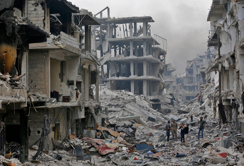 Siria, città distrutta (LaPresse)
