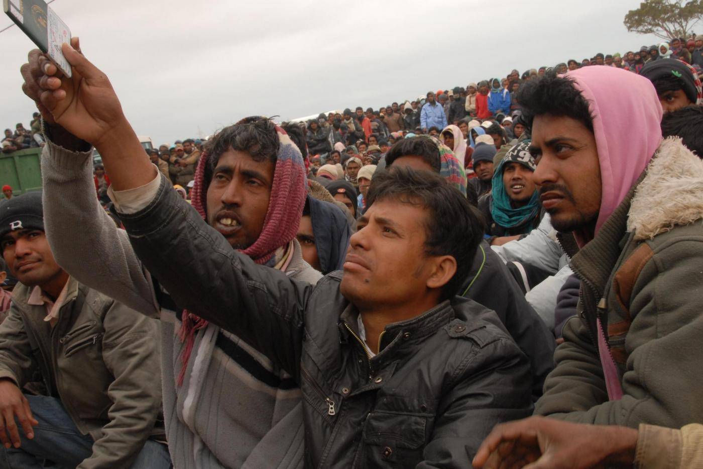 Rifugiati libici in Tunisia (LaPresse)