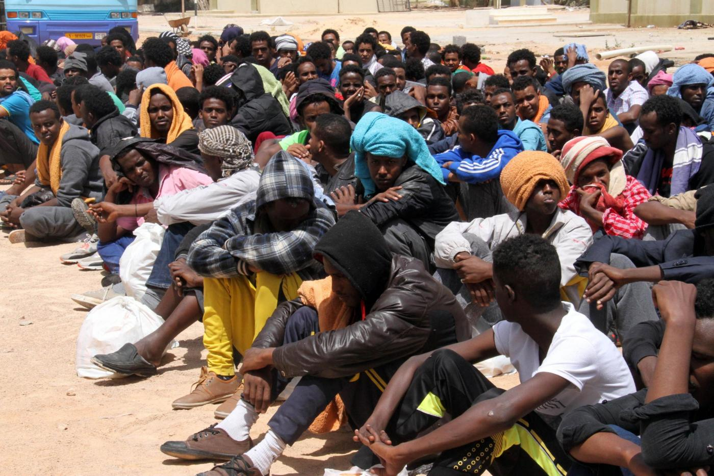 Libia, immigrati a Tripoli (LaPresse)