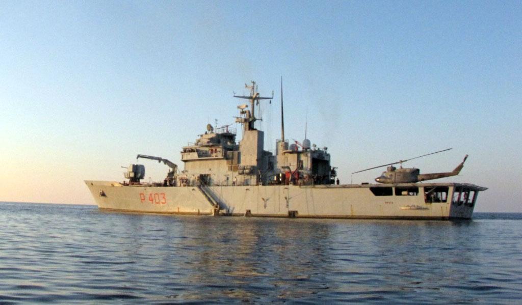 Un pattugliatore della Marina militare italiana (LaPresse)