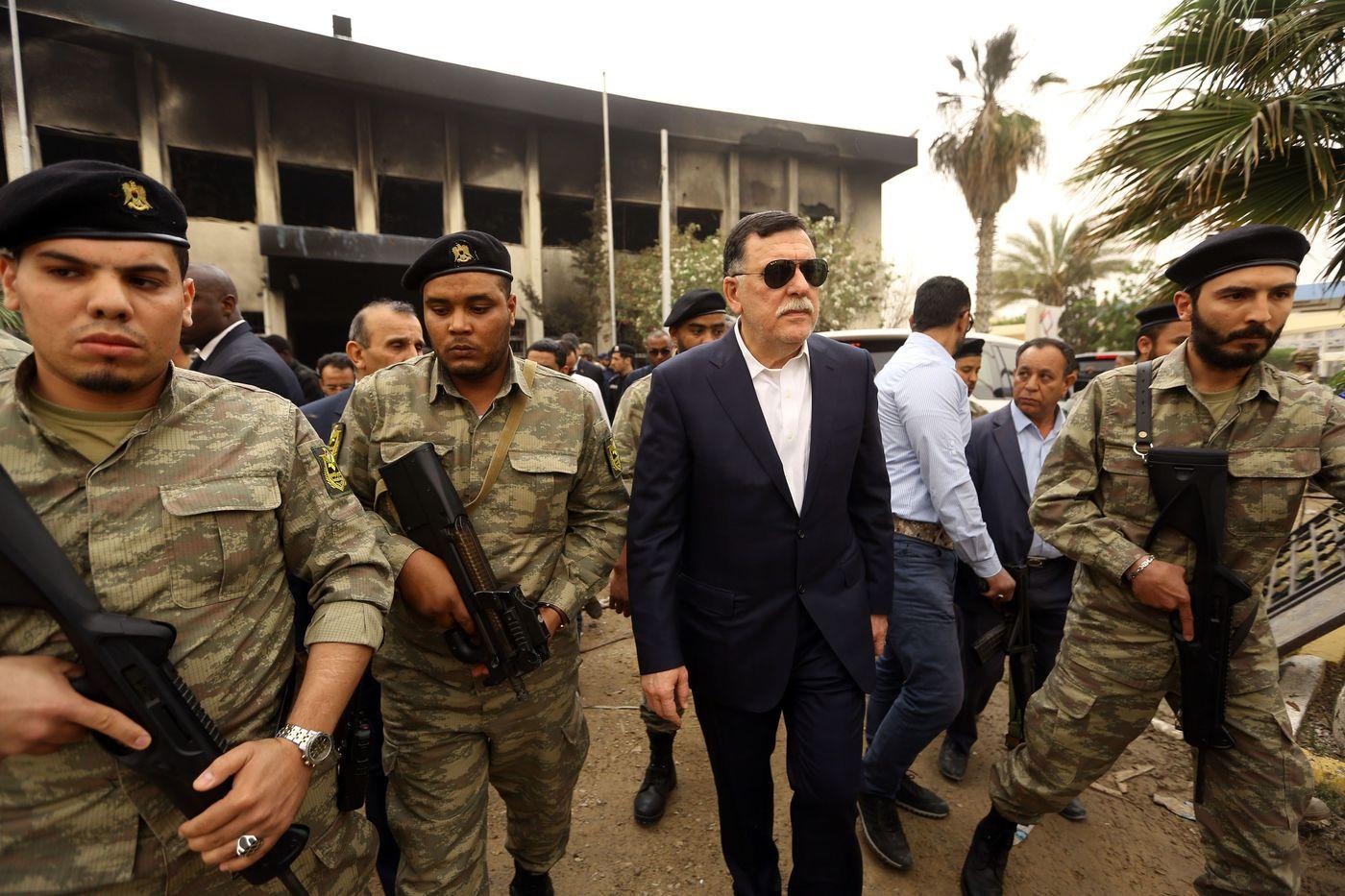 Libia, Fayez al-Sarraj parla con i giornalisti a Tripoli (LaPresse)