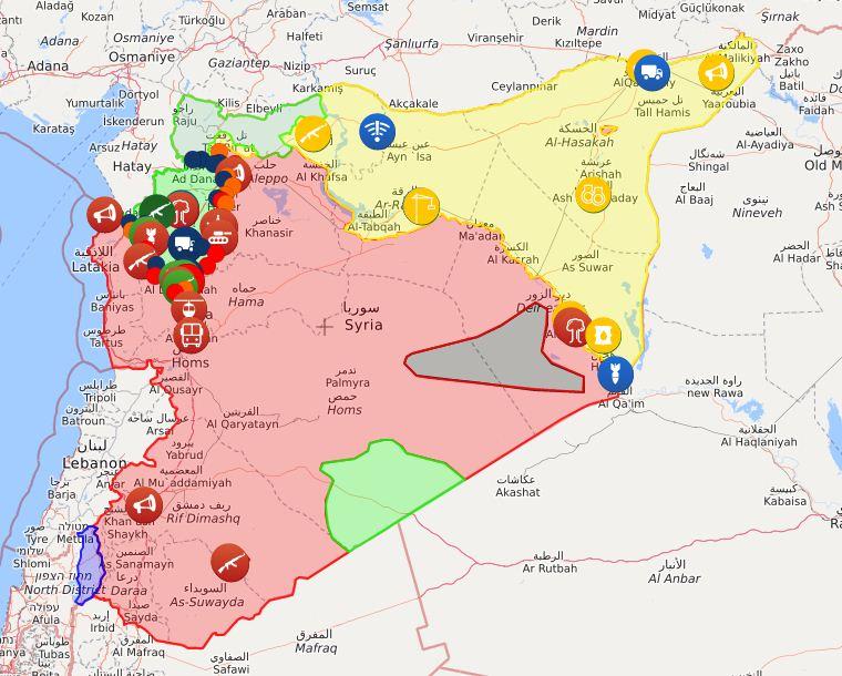 Mappa della Siria (Liveuamap)