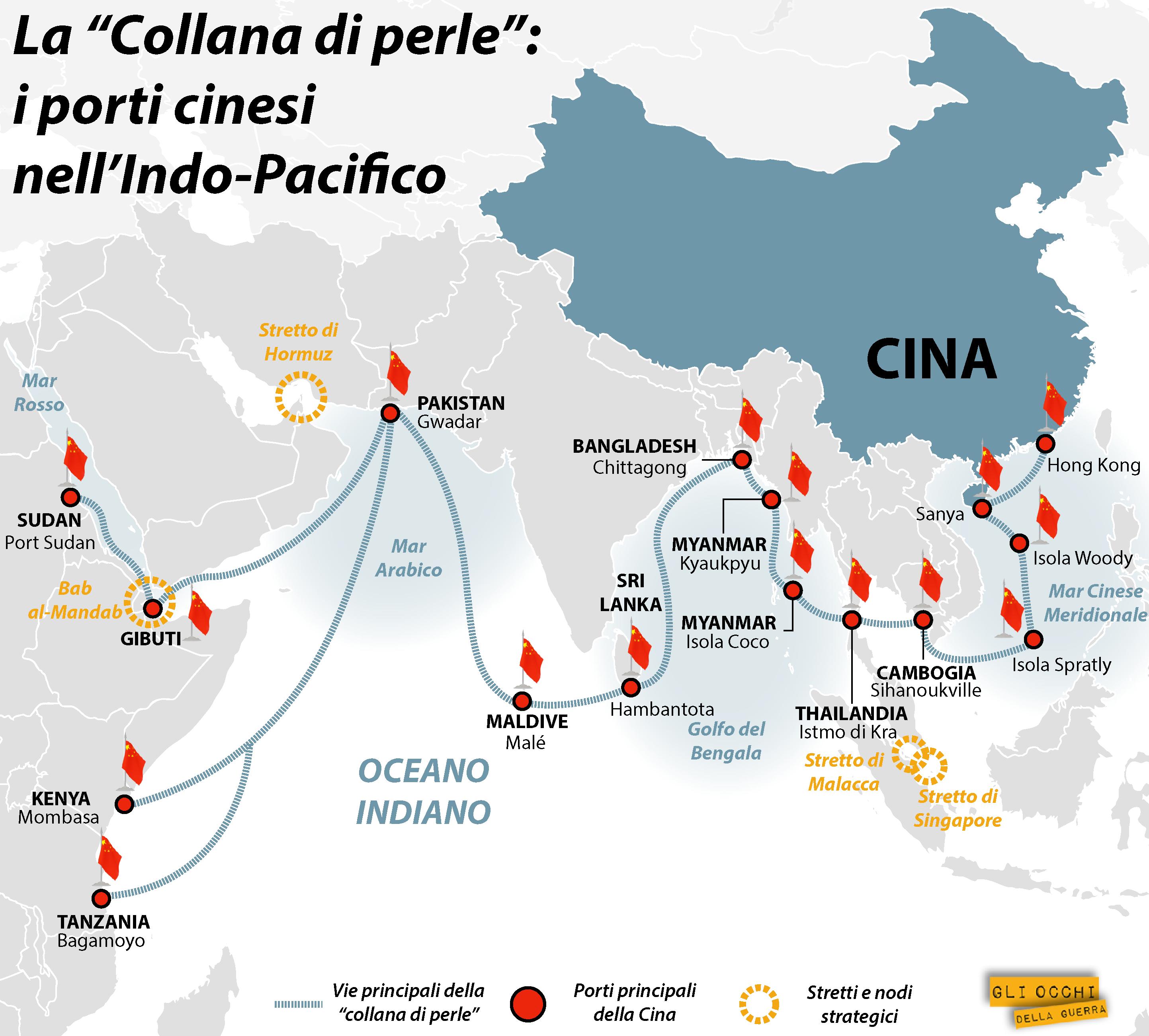 """La """"collana di perle"""" (Mappa di Alberto Bellotto)"""