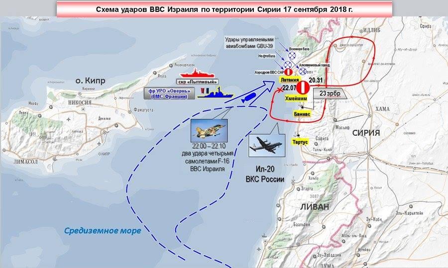 La mappa dell'attacco diffusa dai russi