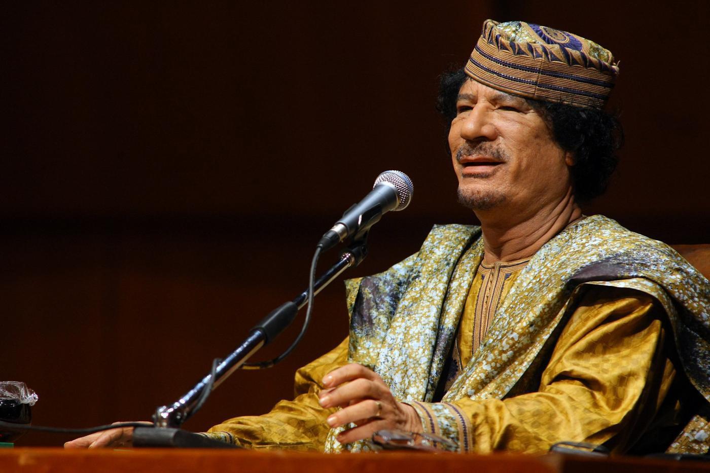Mua'mmar Gheddafi (LaPresse)