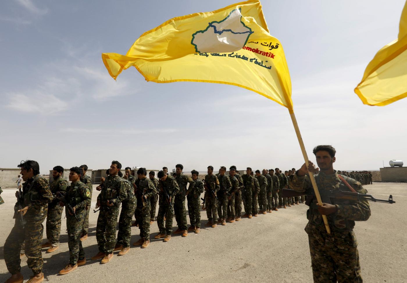 I curdi in Siria (LaPresse)