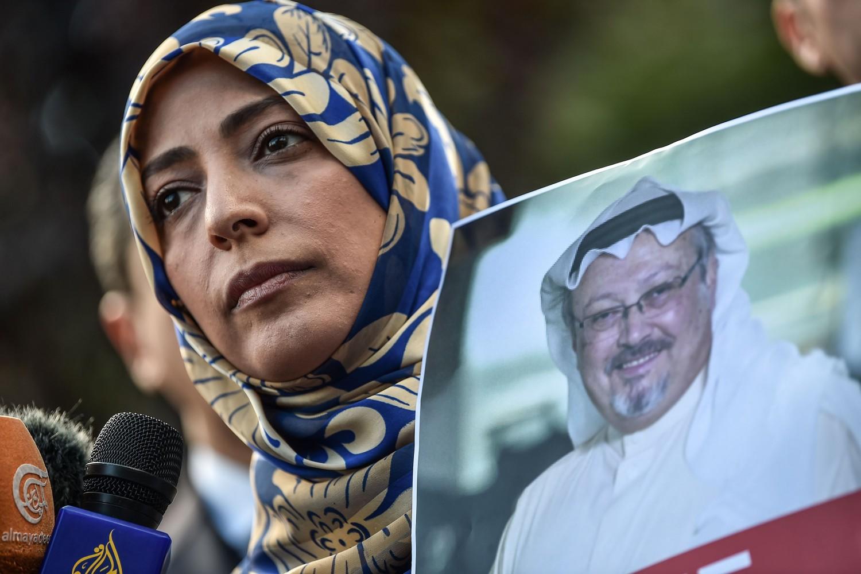 Manifestazione in sostegno di Jamal Khashoggi (LaPresse)