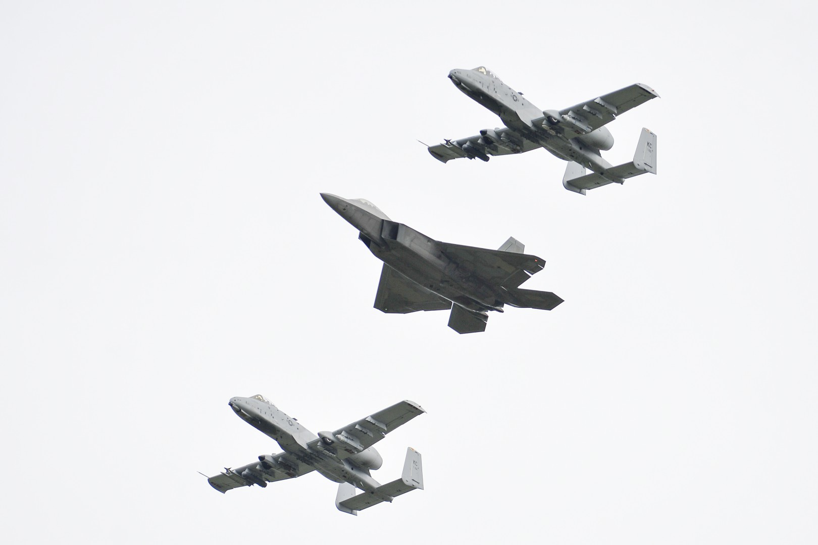 Amari, Estonia - September 4, 2015: Two based in Europe US Airforce F-22 aircrafts visited Estonian airbase in Amari on  September 4, 2015. (Xinhua/Sergei Stepanov)
