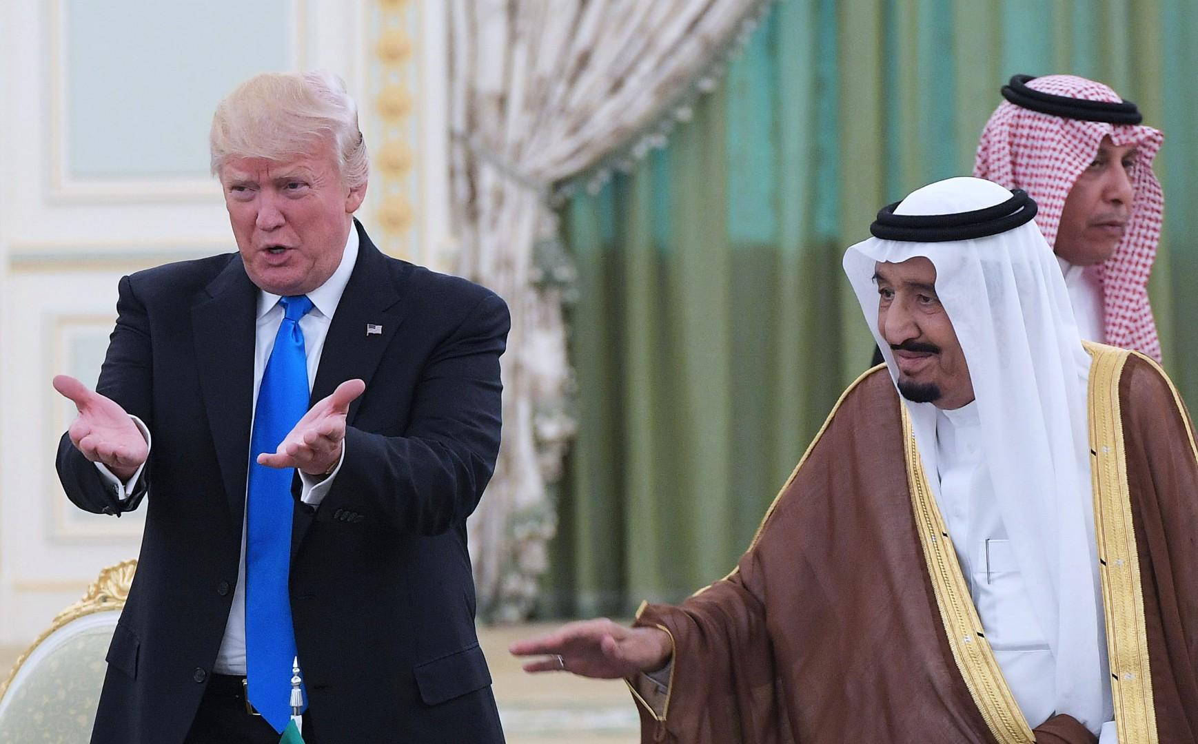 Donald Trump a Riad (LaPresse)