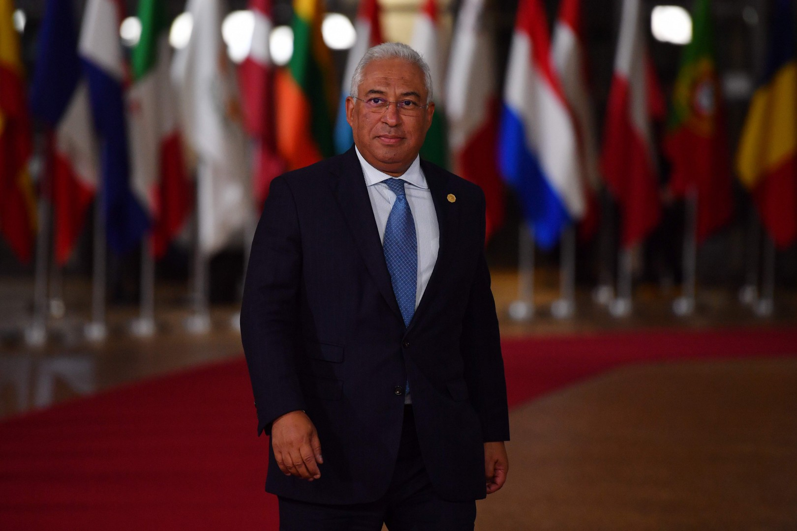 Portugal's Prime Minister Antonio Costa arrives at the European Council in Brussels on October 17, 2018. - British Prime Minister Theresa May is due to address a summit of European Union leaders in which Brexit negotiations are expected to be top of the agenda. (Photo by Ben STANSALL / AFP)