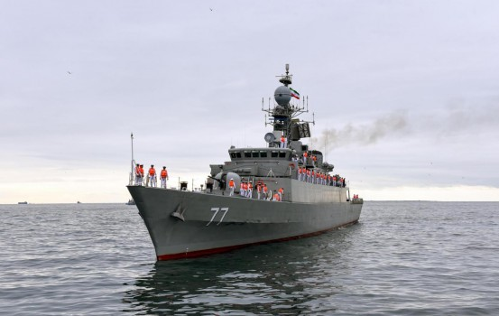 "Two warships of the Naval Forces of Iran arrived in Azerbaijan.Missile ""Damavand"" and boat ""Dzhovshan"" embarked on a raid in the Baku Bay. The military orchestra of Azerbaijan held official welcoming ceremony. This is the first visit of Iranian military ships in our country after the proclamation of independence of Azerbaijan."