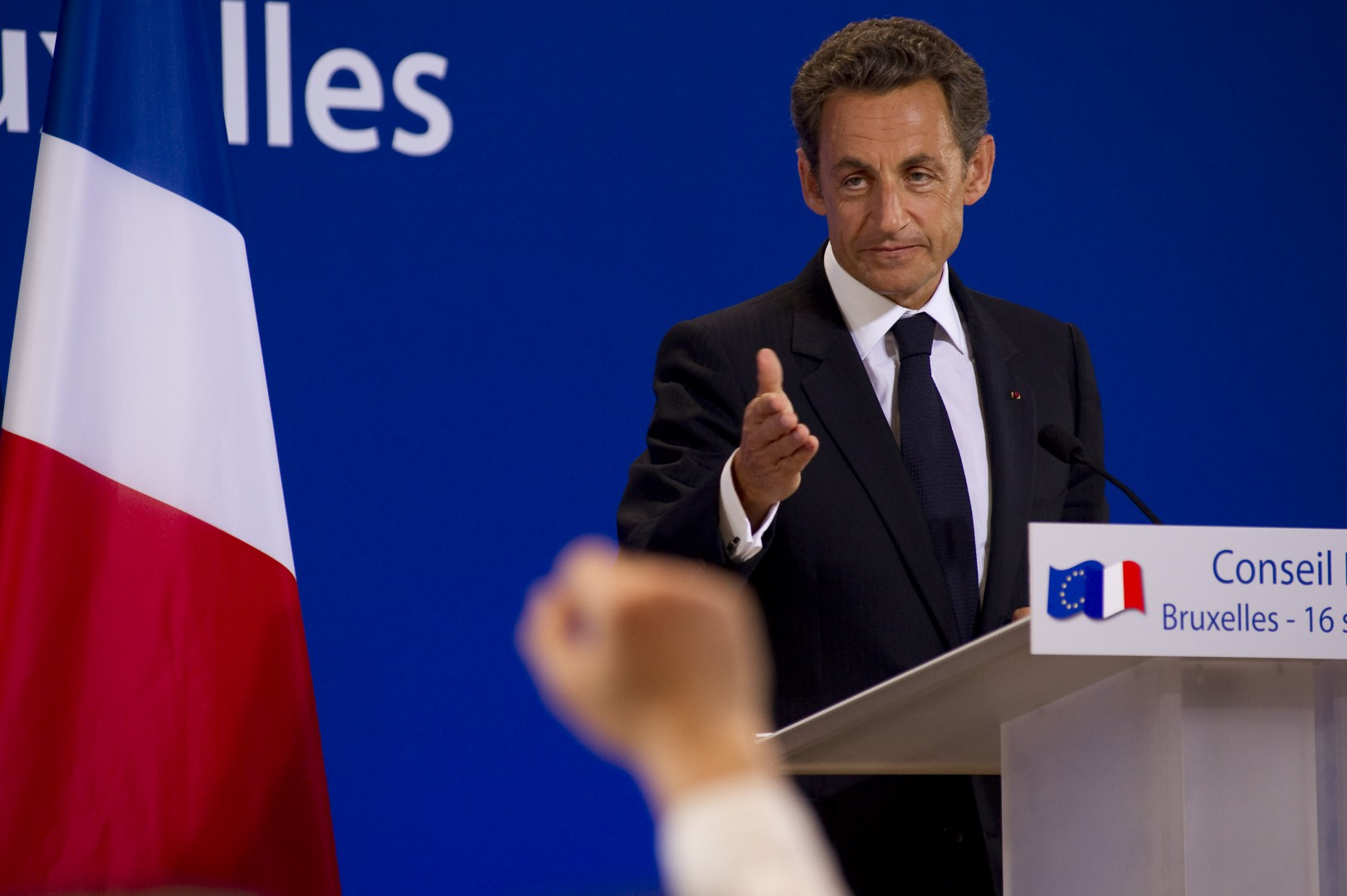 Belgium, Brussels, Sept 16 2010 - European Summit of Brussels - Press conference of the French President Nicolas Sarkozy  Pict by Eric Herchaft © Reporters