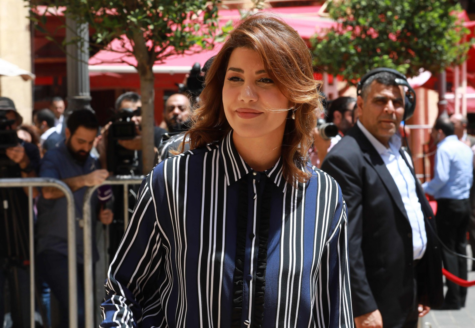 Newly elected Lebanese MP Paula Yacoubian, arrives at Lebanon's parilament in the capital Beirut ahead of a session to elect a new speaker, on May 23, 2018. Lebanon's parliament on Wednesday selected Nabih Berri for a sixth consecutive term as its speaker in their inaugural session, making him one of the longest-serving speakers in the world.  / AFP PHOTO / ANWAR AMRO