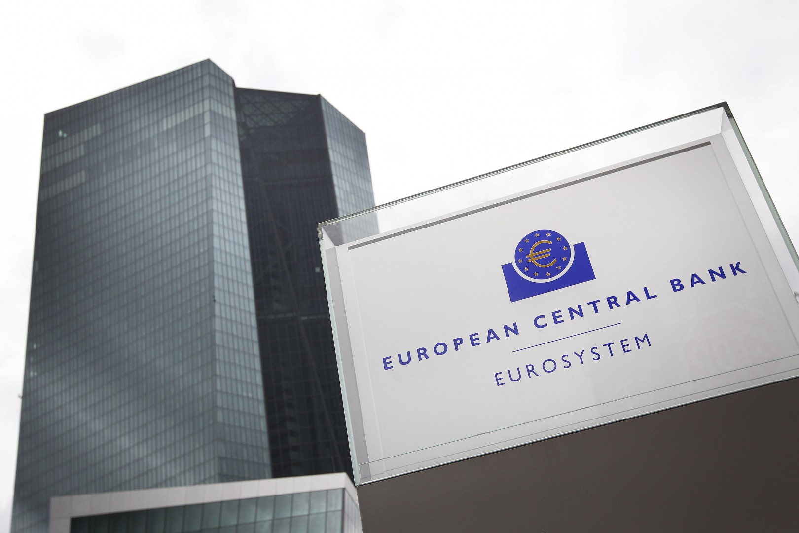 (FILES) In this file photo taken on June 01, 2018 the headquarters of the European Central Bank (ECB) is pictured in Frankfurt am Main, western Germany. (Photo by Daniel ROLAND / AFP)