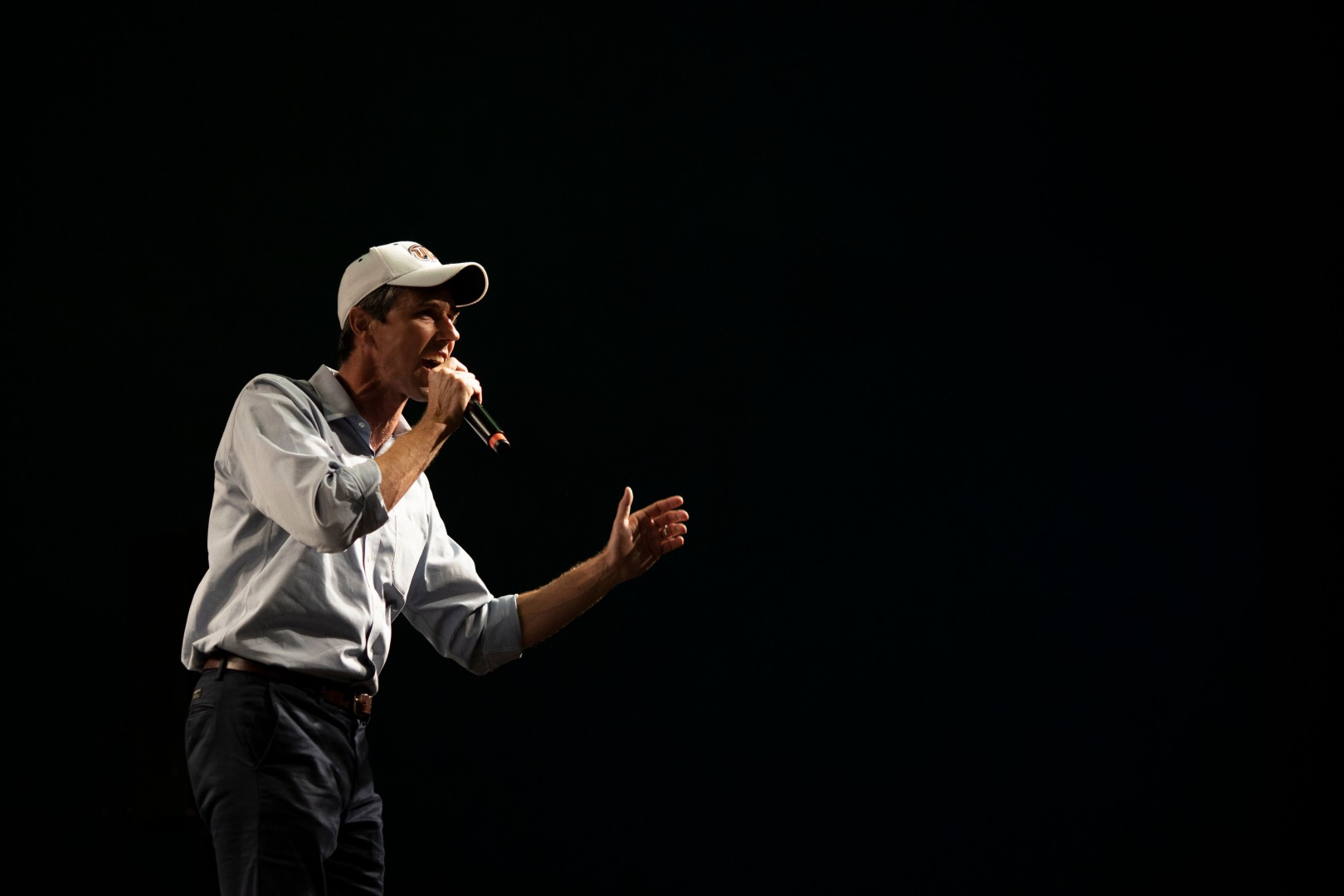 Texas Representative and Senatorial Democratic Party Candidate Beto O'Rourke delivers a speech at the University of Texas in El Paso, Texas, on November 5, 2018, the night before the U.S. midterm elections. - In traditionally Republican Texas, popular Democrat Beto O'Rourke is trying to dethrone Senator Ted Cruz. (Photo by Paul Ratje / AFP)