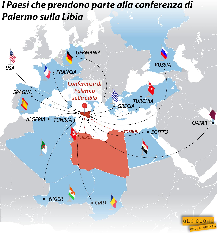 paesi conferenza libia