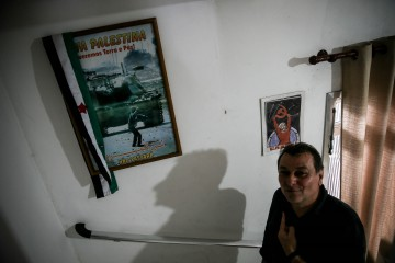 Former Italian left activist Cesare Battisti poses for photographers during an interview granted to Agencia Efe in the city of Cananeia, 300 km off Sao Paulo, Brazil, 30 October 2017. Battisti, a former member of Proletari Armati per il Comunismo (Armed Proletarians for Communism) sentenced for four killings in Italy, said that he 'would not take part in armed fight again because it was a disaster'. EFE/Fernando Bizerra Jr.