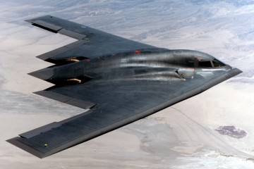 FILE PHOTO -- The B-2 Spirit is a multi-role bomber capable of delivering both conventional and nuclear munitions. A dramatic leap forward in technology, the bomber represents a major milestone in the U.S. bomber modernization program. The B-2 brings massive firepower to bear, in a short time, anywhere on the globe through previously impenetrable defenses. (U.S. Air Force photo)