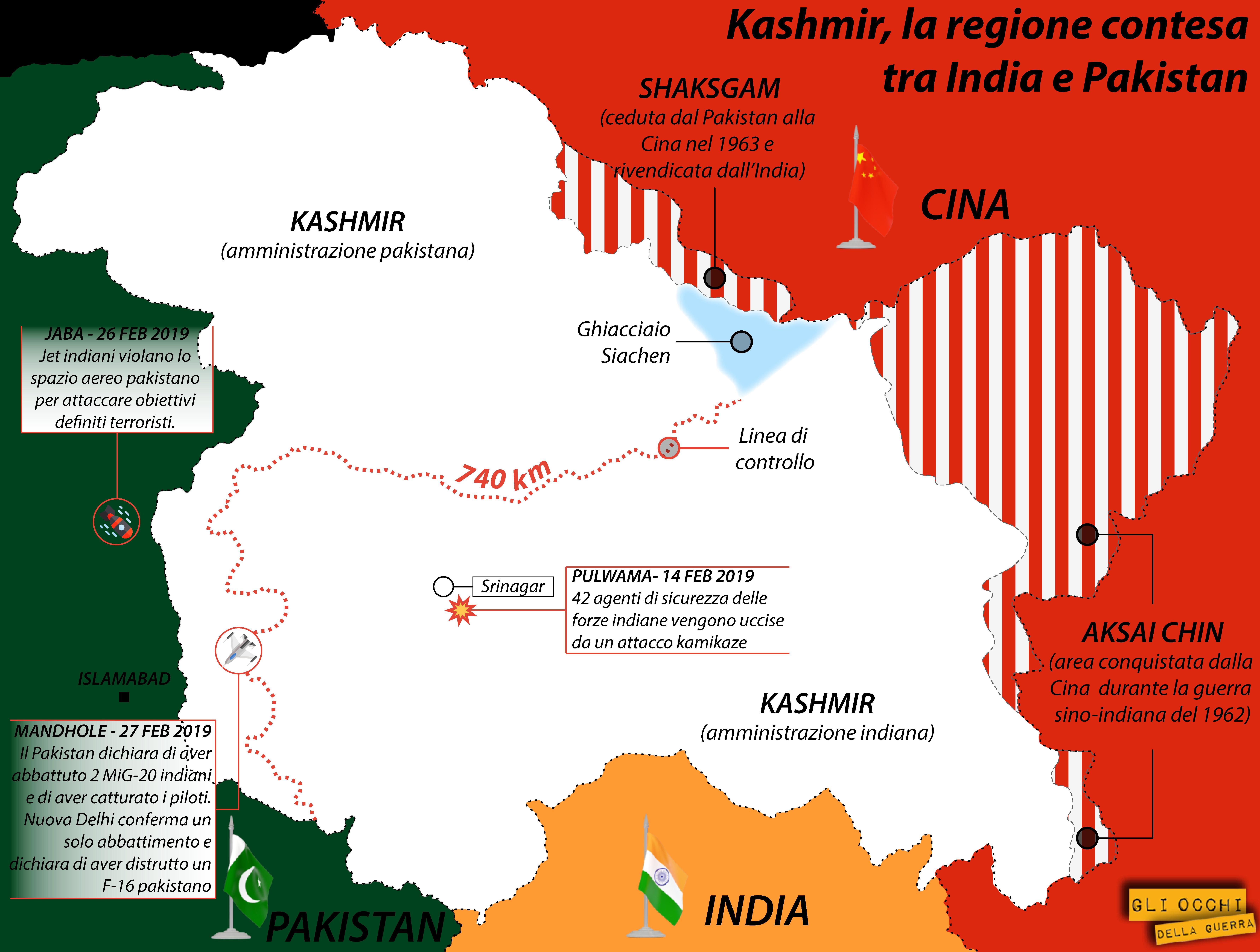 La zona contesa del Kashmir (Alberto Bellotto)