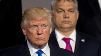 Il presidente americano Donald Trump e Viktor Orban (LaPresse)