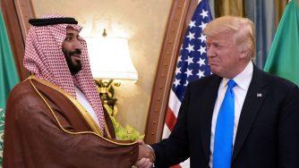 Donald Trump e Mohammad bin Salman (LaPresse)