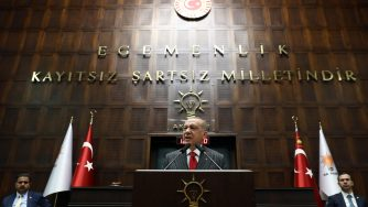 Il presidente turco Recep Tayyip Erdogan (LaPresse)\