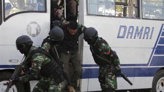 Esercitazioni anti-terrorismo a Banda Aceh in Indonesia (LaPresse)