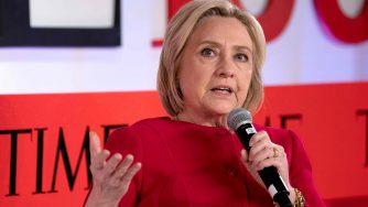 Hillary Clinton a una conferenza organizzata dal Time (LaPresse)