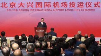 Xi Jinping inaugura l'aeroporto Daxing (LaPresse)
