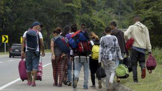 Migranti venezuelani (LaPresse)