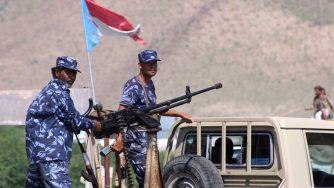 Forze di sicurezza yemenite schierate contro Aqap (LaPresse)