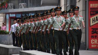 Polizia cinese (LaPresse)