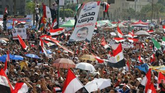Supporter del presidente egiziano Mohamed Morsi (LaPresse)