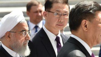 Il leader cinese Xi e il presidente iraniano Rouhani