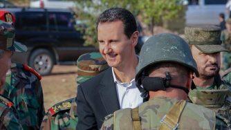 Bashar al Assad sul fronte di Idlib (LaPresse)