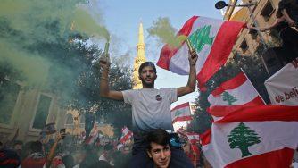 Libano, manifestazione a Beirut