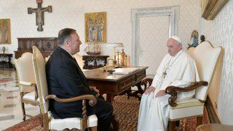 Papa Francesco riceve Mike Pompeo (LaPresse)