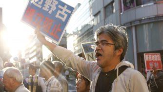 Proteste contro la base Usa a Hokinawa (LaPresse)