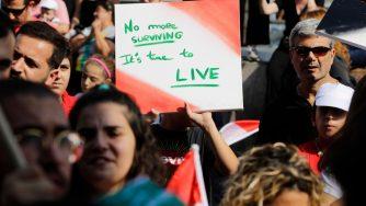 Proteste in Libano (LaPresse)
