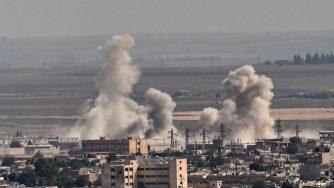 Raid turco in Siria (LaPresse)